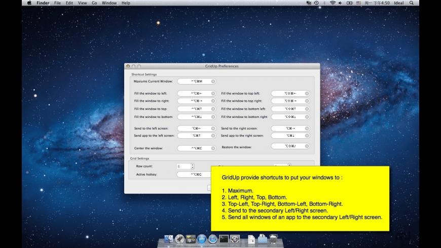 GridUp for Mac - review, screenshots