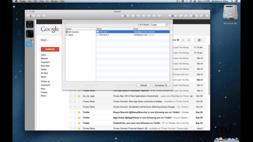 Gmesk for Mac - review, screenshots