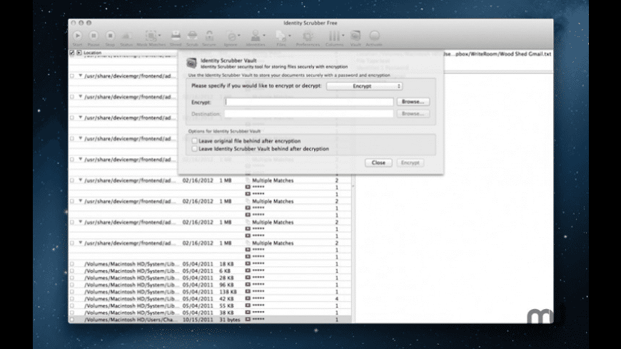 Identity Scrubber for Mac - review, screenshots