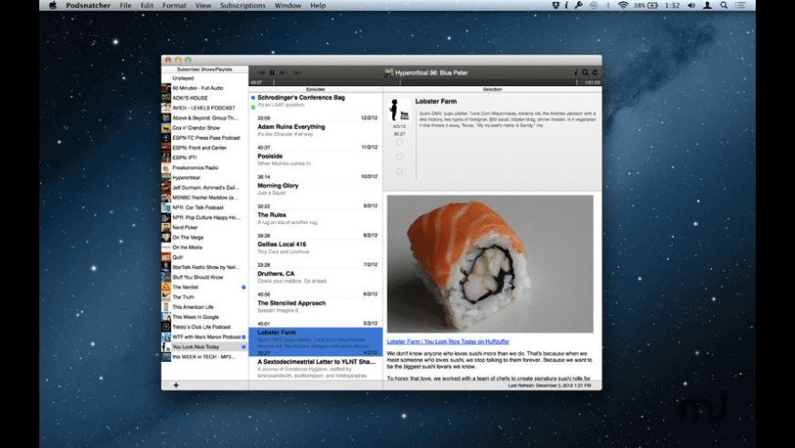 Podsnatcher for Mac - review, screenshots