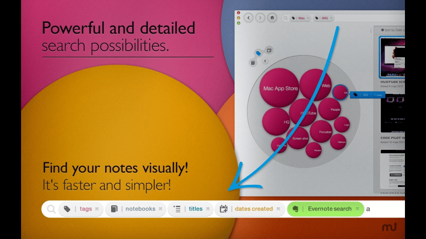 Bubble Browser for Evernote for Mac - review, screenshots