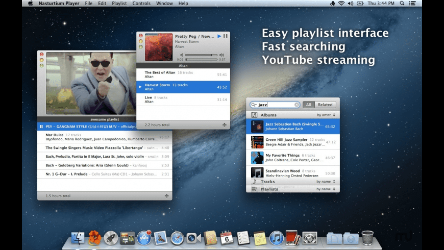 Nasturtium Player for Mac - review, screenshots