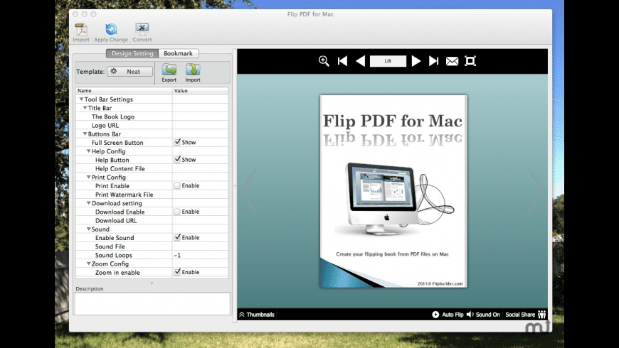 FlipPDF for Mac - review, screenshots