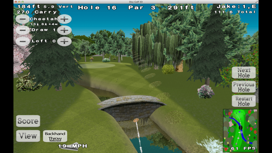 Disc Golf 3D for Mac - review, screenshots