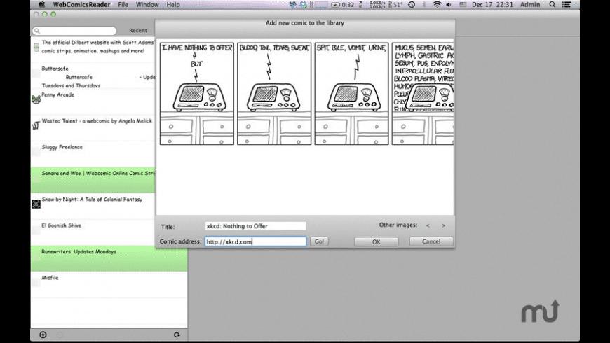 WebComicsReader for Mac - review, screenshots