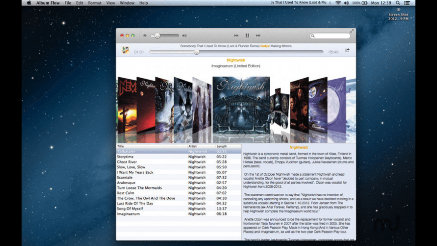 Album Flow for Mac - review, screenshots