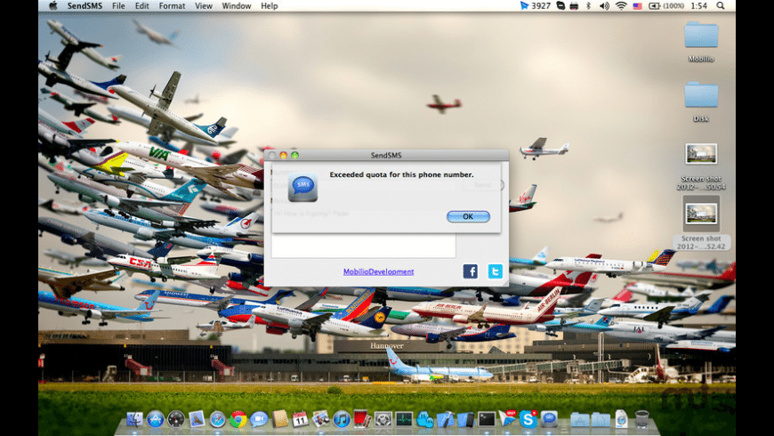 Send SMS for Mac - review, screenshots
