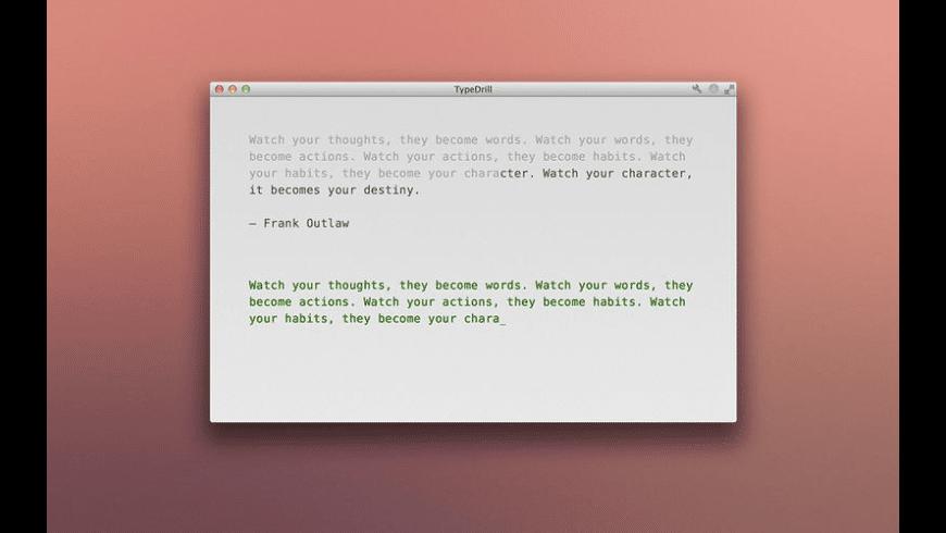 TypeDrill for Mac - review, screenshots