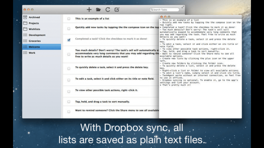 TaskAgent for Mac - review, screenshots