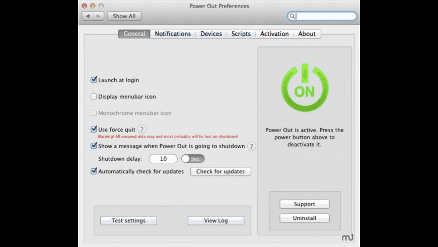Power Out for Mac - review, screenshots