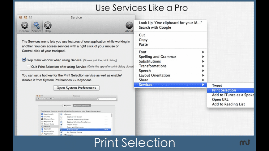 Print Selection for Mac - review, screenshots