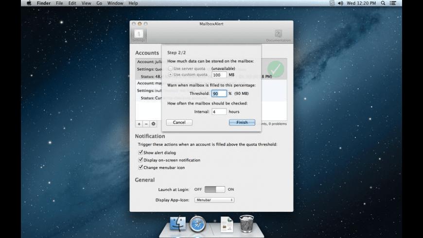 MailboxAlert for Mac - review, screenshots
