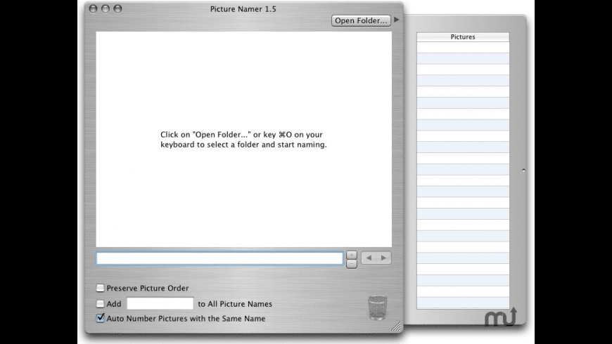 Picture Namer for Mac - review, screenshots