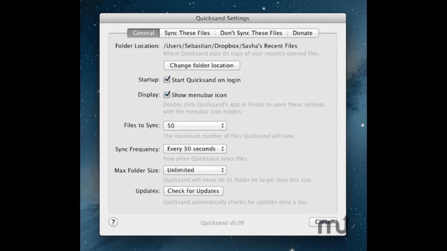 Quicksand for Mac - review, screenshots