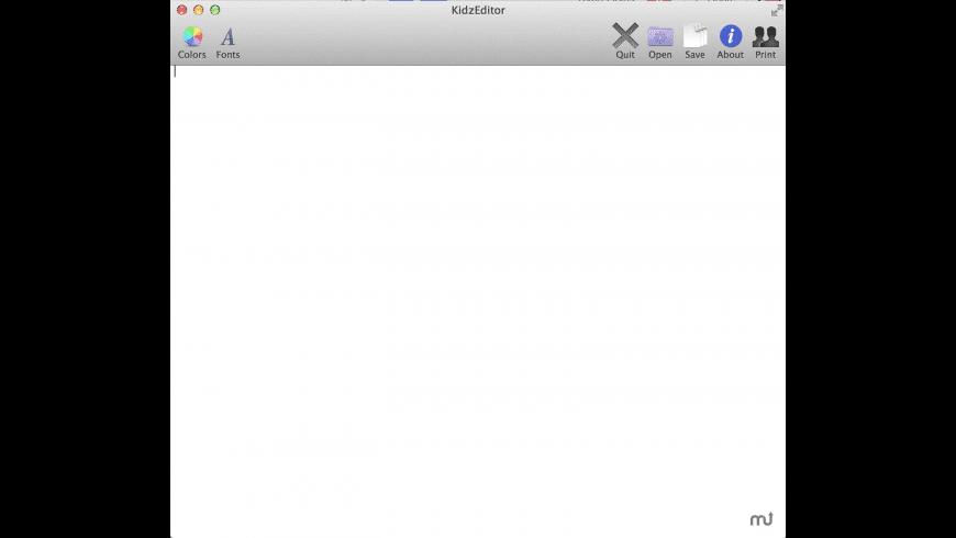 KidzEditor for Mac - review, screenshots
