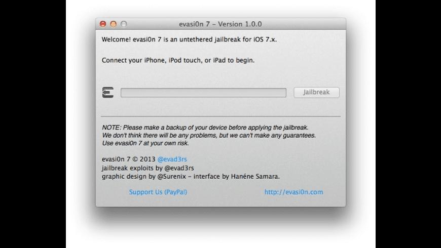 evasi0n 7 for Mac - review, screenshots