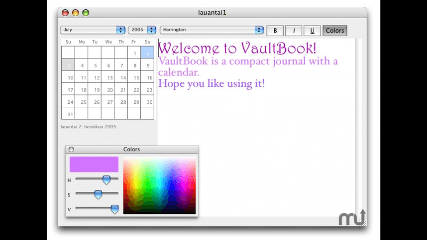 VaultBook for Mac - review, screenshots
