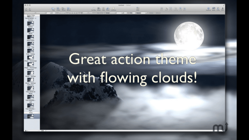 Action Themes for Keynote for Mac - review, screenshots