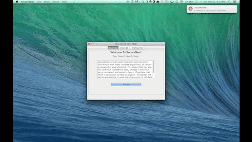 SecureSend for Mac - review, screenshots