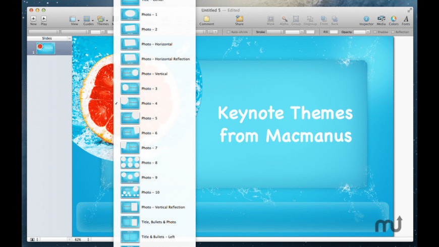 Themes Box for Keynote for Mac - review, screenshots