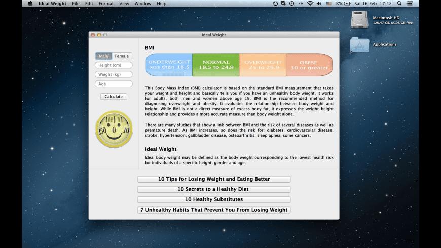 Ideal Weight for Mac - review, screenshots