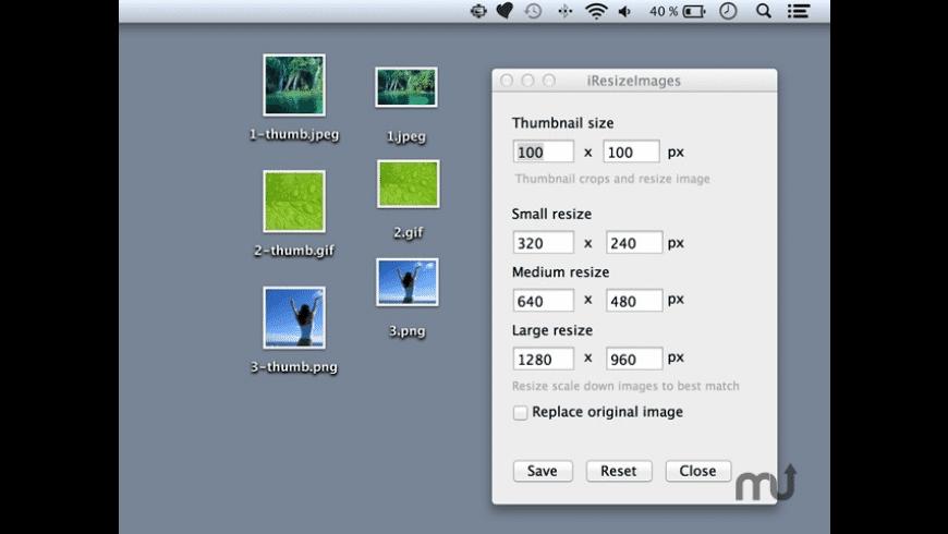 iResizeImage for Mac - review, screenshots