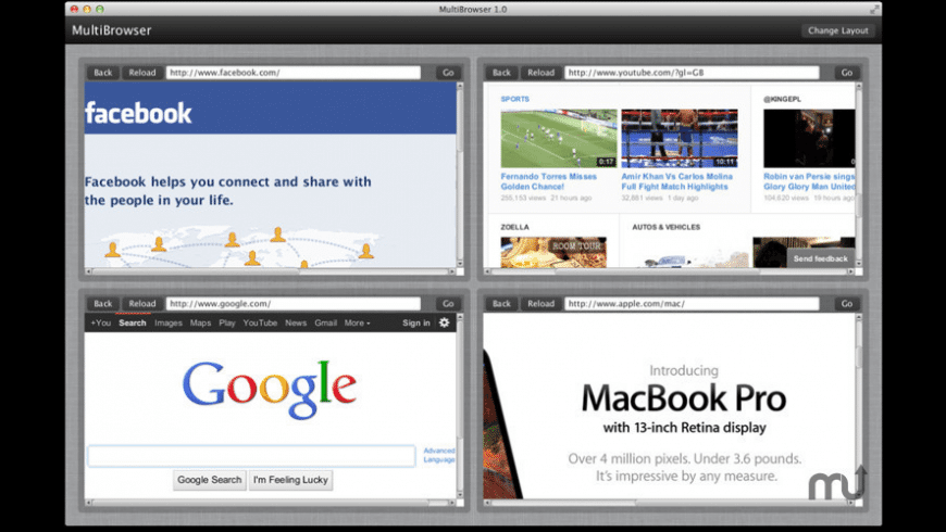 MultiBrowser for Mac - review, screenshots