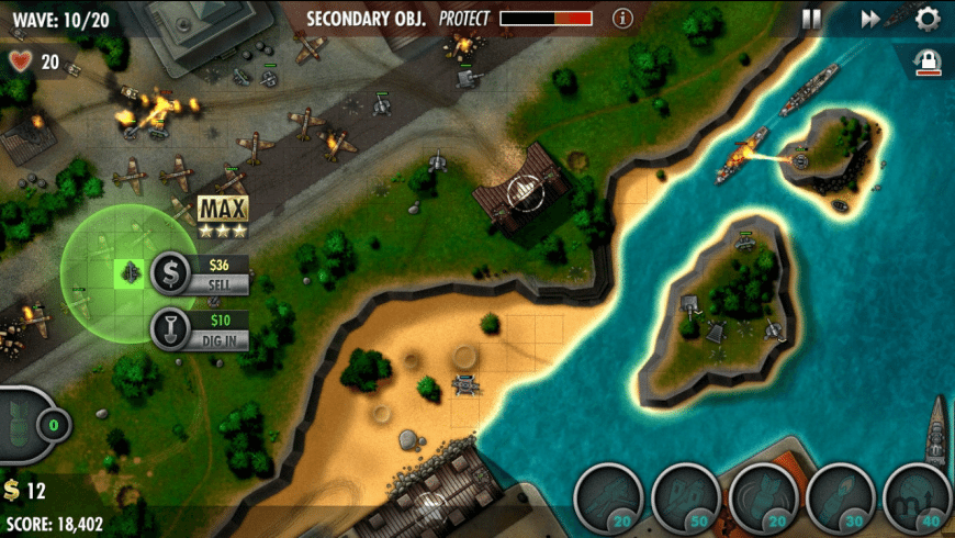 iBomber Defense Pacific for Mac - review, screenshots