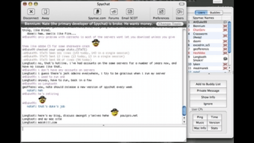 SpyChat for Mac - review, screenshots
