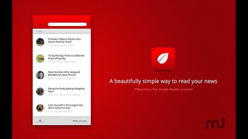Leaf for Google Reader for Mac - review, screenshots