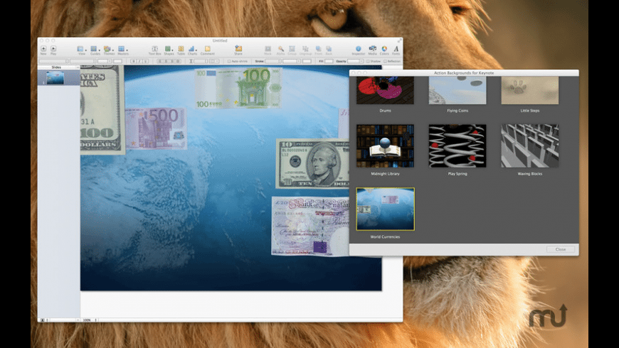 Action Backgrounds for Keynote for Mac - review, screenshots