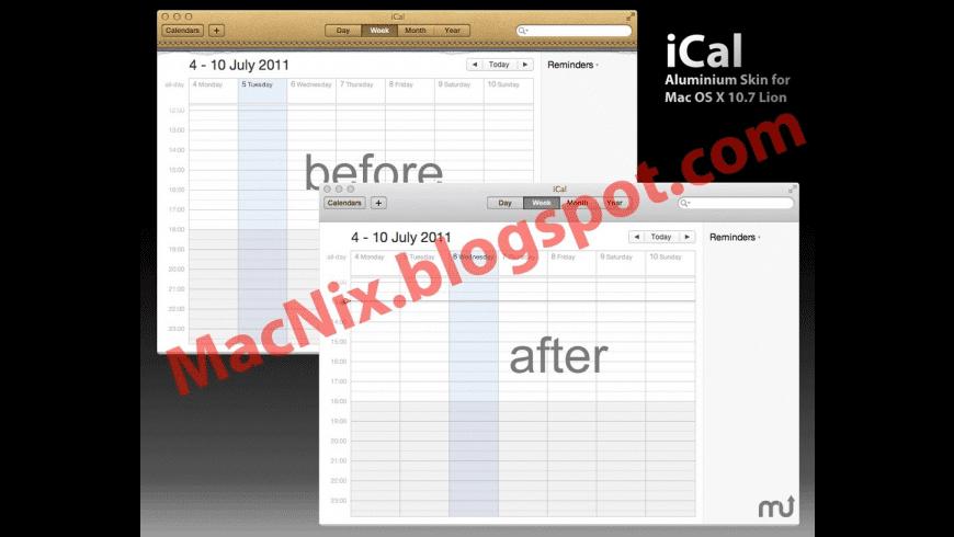 Aluminum Skin for iCal for Mac - review, screenshots