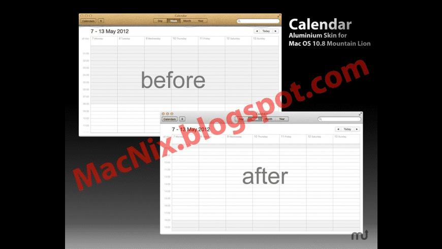 Aluminum Skin for Calendar for Mac - review, screenshots