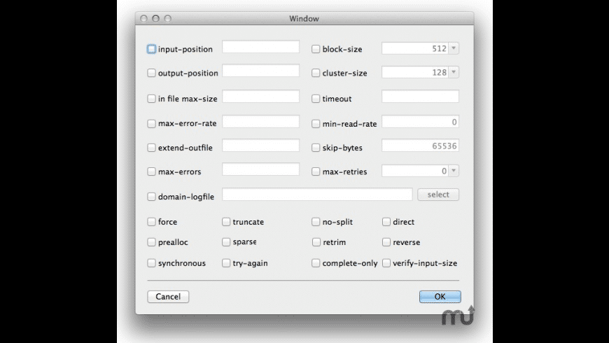 ddrescue-gui for Mac - review, screenshots