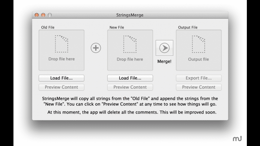StringsMerge for Mac - review, screenshots