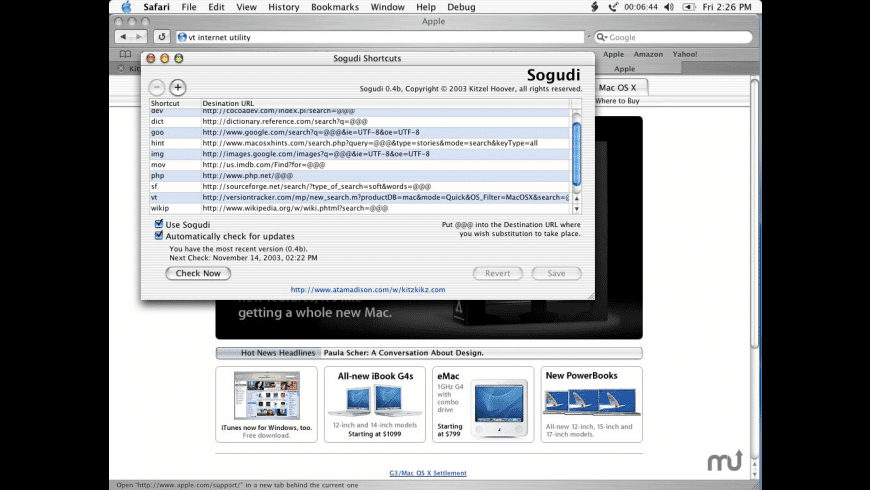 Sogudi for Mac - review, screenshots