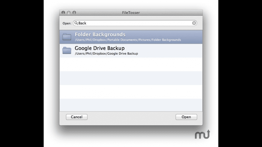 FileTosser for Mac - review, screenshots