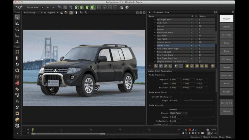 RaySupreme 3D for Mac - review, screenshots