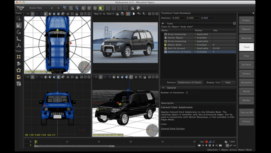 RaySupreme 3D for Mac - review, screenshots
