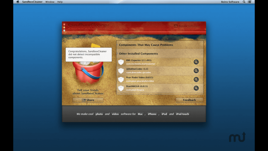 SandboxCleaner for Mac - review, screenshots