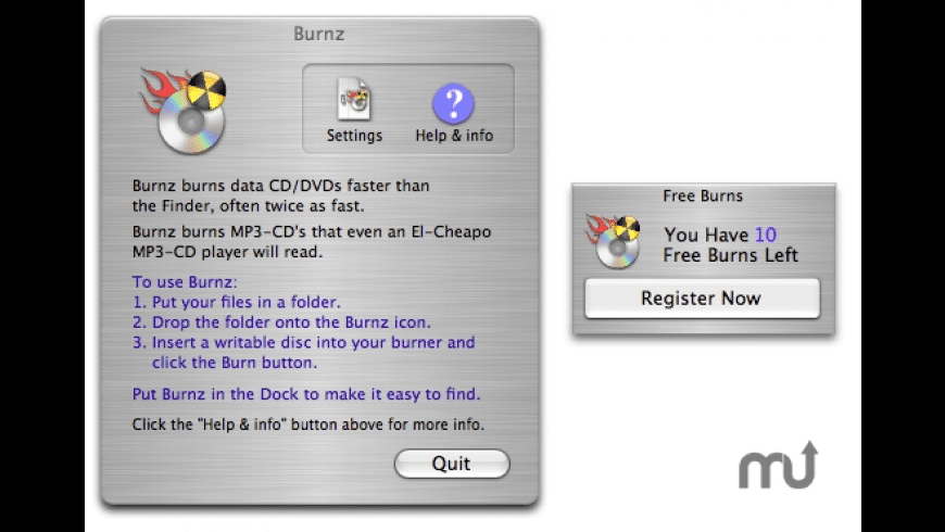 Burnz for Mac - review, screenshots