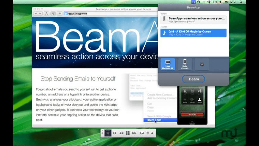 BeamApp for Mac - review, screenshots