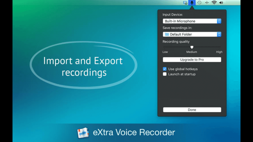 eXtra Voice Recorder Lite for Mac - review, screenshots