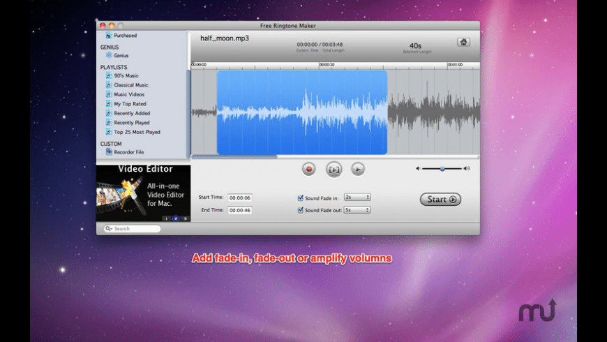 Free Ringtone Maker for Mac - review, screenshots