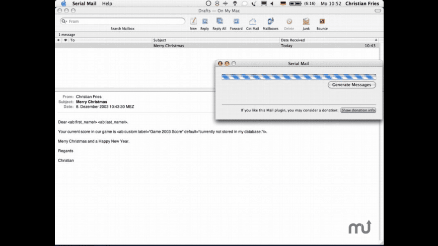 Serial Mail for Mac - review, screenshots