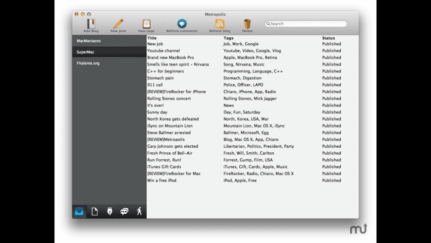 Metropolis for Mac - review, screenshots