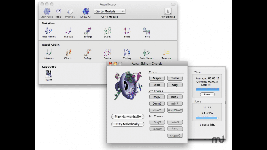 Aquallegro for Mac - review, screenshots