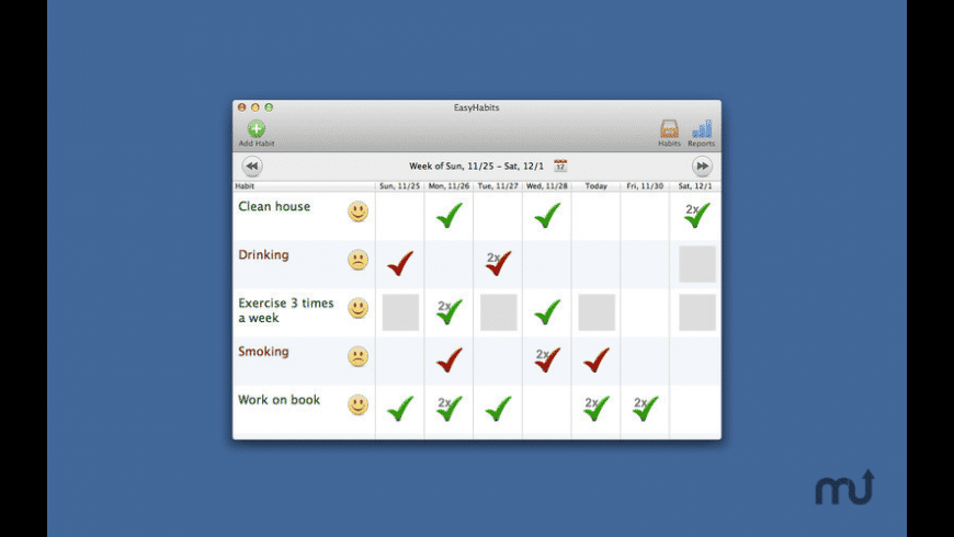 EasyHabits for Mac - review, screenshots