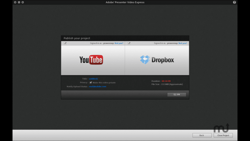 Adobe® Presenter Video Express for Mac - review, screenshots