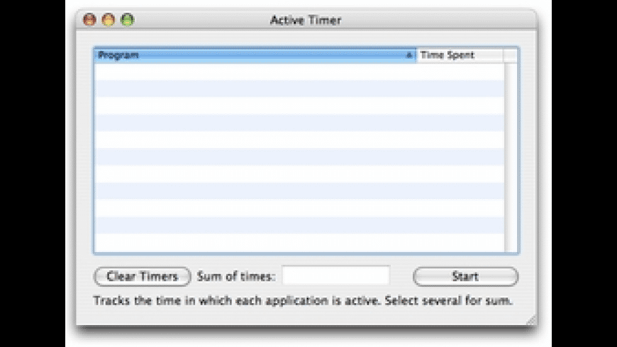 Active Timer for Mac - review, screenshots